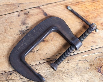 Vintage Industrial C-Clamp- Bookend, Industrial Home Decor
