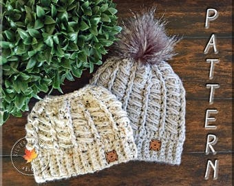 MESSY BUN HAT Pattern, Crochet Hat Pattern, Crochet Pattern, Messy Bun Beanie, Ponytail Hat, Bun Hat Pattern, Bun Hat Pattern, The Alps