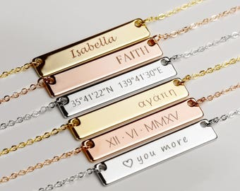 Quote Necklace Personalized Gifts Inspirational Jewelry MignonandMignon Name Necklace Mothers Day Gift - 4N