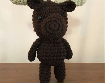 FREE SHIPPING Moose, Handmade Crochet Moose, Moose Stuffed Animal, Moose Plushie, Stuffed Moose Plush, Cute Stuffed Moose Stuffed Animal