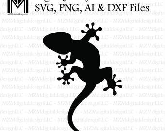 Lizard Gecko svg, png, ai and dxf Files -For Commercial & Personal Use- SVG for Cricut Silhouette and Cameo - Vinyl file - Tribal Southwest