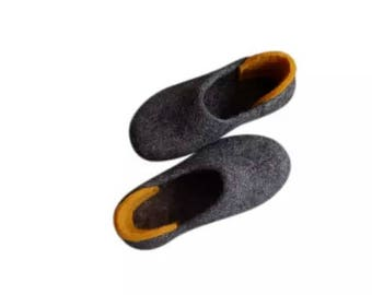 Flat shoes Felt slippers Wool slippers Felt gift Ladies slippers womens slippers woolen slippers felted shoes wool shoes