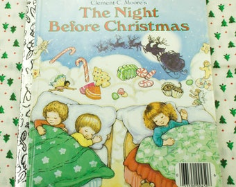 1980's The Night Before Christmas Little Golden Book