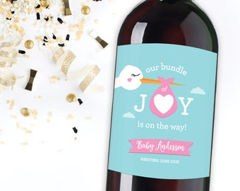 Baby Announcement Label, Pregnancy Reveal Idea, Baby Reveal to Family, Best parents get promoted to grandparents, Bundle of Joy Baby Reveal