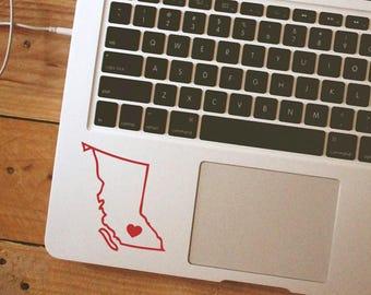 SUMMER SALE! British Columbia Sticker British Columbia Decal Outline Decal iPhone Car Laptop Vinyl Decal Sticker