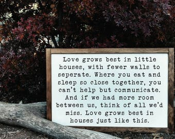 2'x3' Love Grows Best in Little Houses