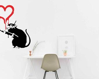 Banksy Love Rat Vinyl Decal