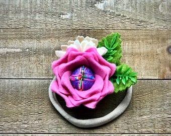 Beaded Pink Rose