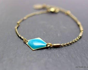 Bracelet mini bronze Peony