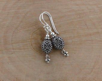 Sterling Silver Earrings, Sterling Silver Dangle Earrings, Turkish Earrings, Turkish Silver, Bali Silver Jewelry, Dainty Silver Dangles