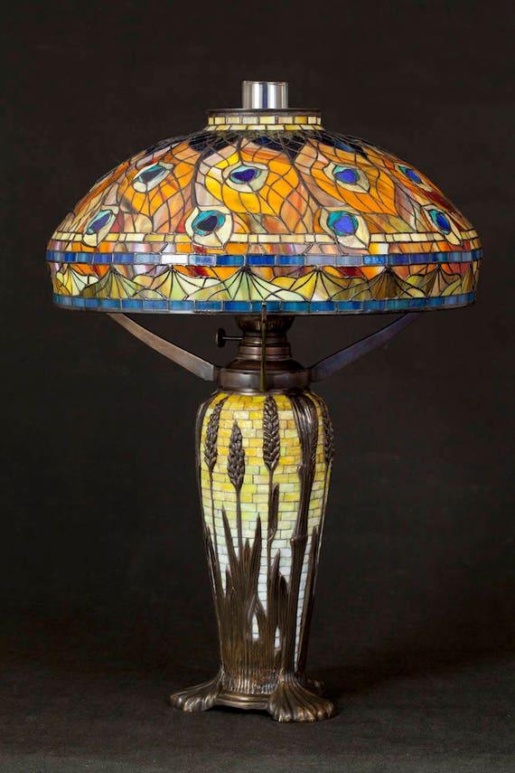 Tiffany Peacock lamp