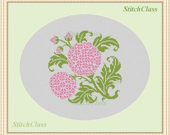 Cross Stitch Pattern Flower Geranium Cross Stitch Pattern cross-stitch patterns PDF crossstitch