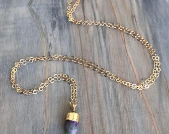 Ruby Bullet // Ruby Bullet Necklace in Gold