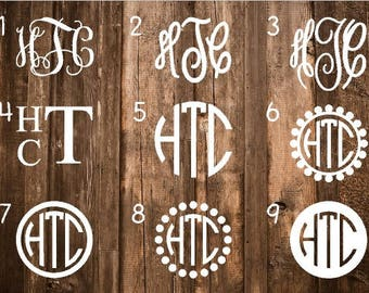 ON SALE Monogram Decal | Monogram Sticker | Monogram Decals | Monogram Laptop Decal | Car Decal | Custom Cup Decal | Monogram Car Decal