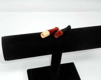fabulous vintage lot 2 fume cigarette , cigarette holder 1960 galalith carved made in france rare