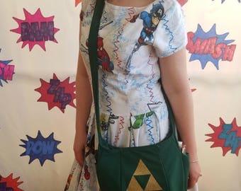 Zelda Geek and Gammer Purse or Across the Shoulder Bag