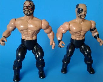 "Vintage Remco Wrestler "" Road Warriors Animal & Hawk Figure "" 1980's NWA/AWA"