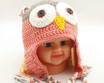 Crochet Owl Hat (Children)