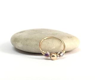 Tiny Hoop Tragus Ring, gold tragus earring helix, nose ring gold tragus, tragus hoop, tragus cartilage earring, tragus piercing cartilage