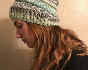 Knit Multicolor Slouch Hat