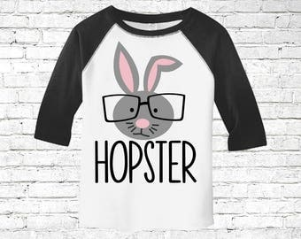 Easter shirt for boy, easter toddler shirt, rabbit shirt for him, toddler bunny shirt, easter egg shirt, raglan easter shirt, personalized