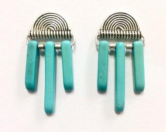 Boho Silver & Turquoise Earrings