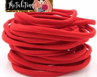 Red Nylon Headband | One Size Headband | THIN Soft Nylon Headband for baby and adults| Premium Infant & Baby Headbands | BULK