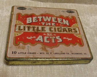 Vintage cigar tin, Between the Acts, Little Cigars