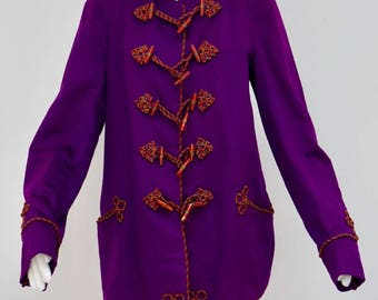 Uniform jacket, student connections, fraternity, 20s, 30s, lilac