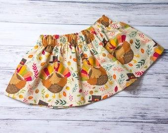 Turkey Skirt, Thanksgiving outfit, Thanksgiving bodysuit and skirt, Turkey gobble gobble
