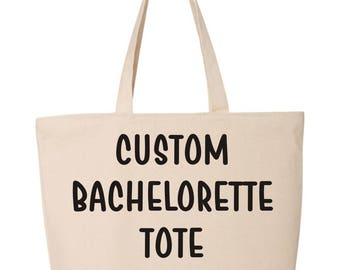 Custom Bachelorette Tote Bag  Personalized Bachelorette Bag   Bachelorette Favor   Bachelorette Beach Bag   Bachelorette Gift