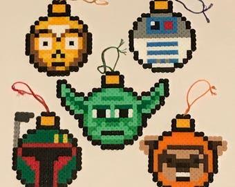 Star Wars Perler Bead Bulb / Ball Ornaments