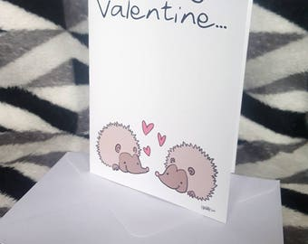 LGBT Valentine's Card: Hedgehogs