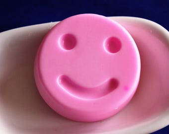 Smiley SOAP pink with nose / face / happy birthday smile gift / get well soon gift / Emoji / kids gift / thank you