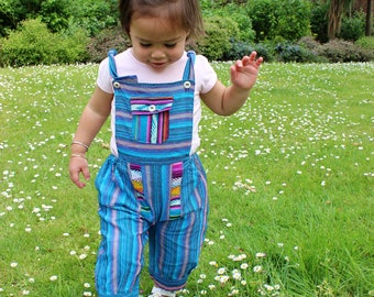 Rainbow Dungarees 0 months +