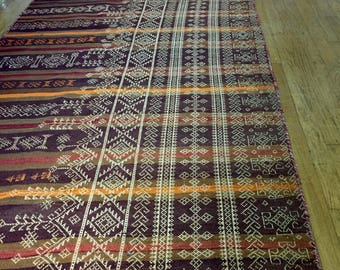 "Turkish Baluch Style Wool Kilim Wide Runner 46""  x 134"""