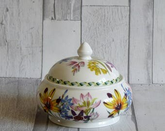 Portmeirion Susan Williams Ellis Ladies Flower Garden Trinket Box and Cover
