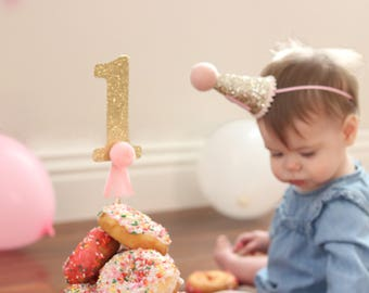 Donut Topper | First Birthday Topper | 1st Birthday Decor | Donut Grow Up Cake Topper | First Birthday Cake Topper | Choose Color