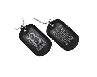 Believe - Dog Tag Necklace