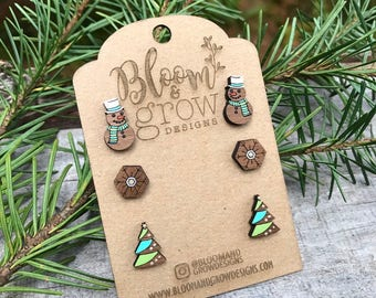 Stud Earrings - Holiday Season 1