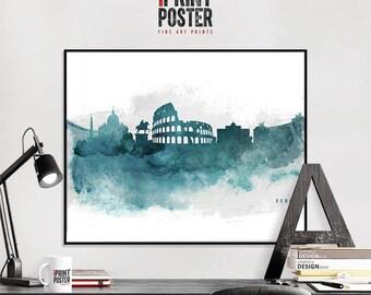 Rome art print Rome wall art Rome skyline poster, travel gift, home decor, travel poster, iPrintPoster