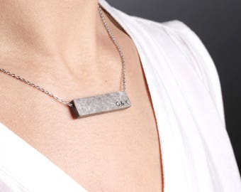 1st Anniversary Gift for Her,  Personalized Paper Necklace