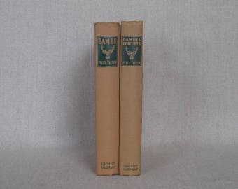 Bambi and Bambi's Children by Felix Salten, Childrens Classic Stories, Kids Literature, Animal Tales