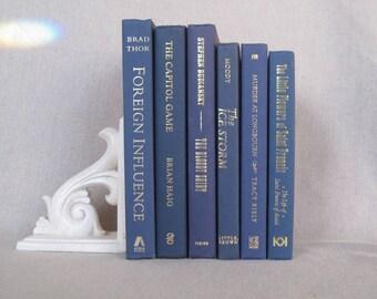 Decorative Book Set in Blue, Book Bundle, Wedding Centerpiece Books, Blue Books, Blue Decor, Book Collection, Stack of Books