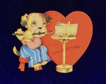 1930's Piccolo Pup Valentine Die Cut Card