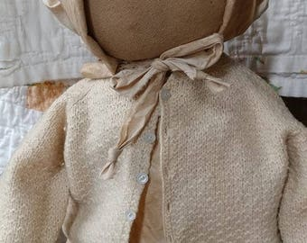 Primitive doll Prairie doll Farmhouse Rag doll Faap Hafair Haha