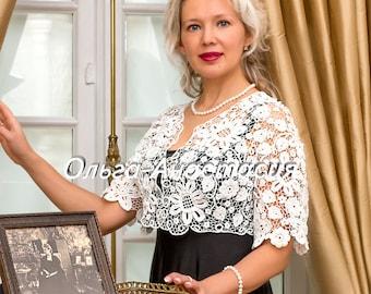 """Irish lace  by Olga-Anastasia. Ирландское кружево. Болеро """"Людмила"""" авторская работа НА  ЗАКАЗ"""