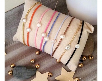 """Miyuki """"Dew"""" natural freshwater pearl bRacelet"""