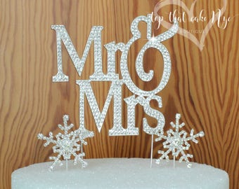 Large Silouhette  Silver Mr and Mrs Or God Gave Me You wedding cake topper covered in crystal rhinestones wedding decoration
