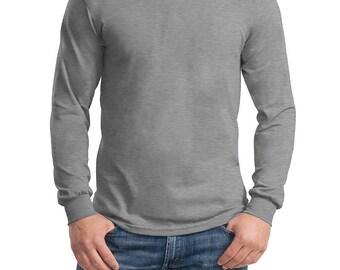 Long Sleeve 100% Heavy Cotton Shirt Option